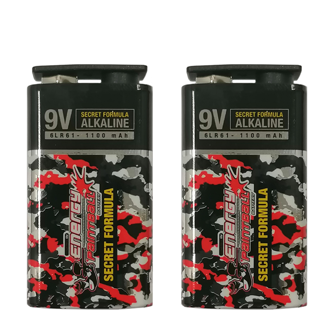 Baterie 9V Energy Paintball (2 szt)